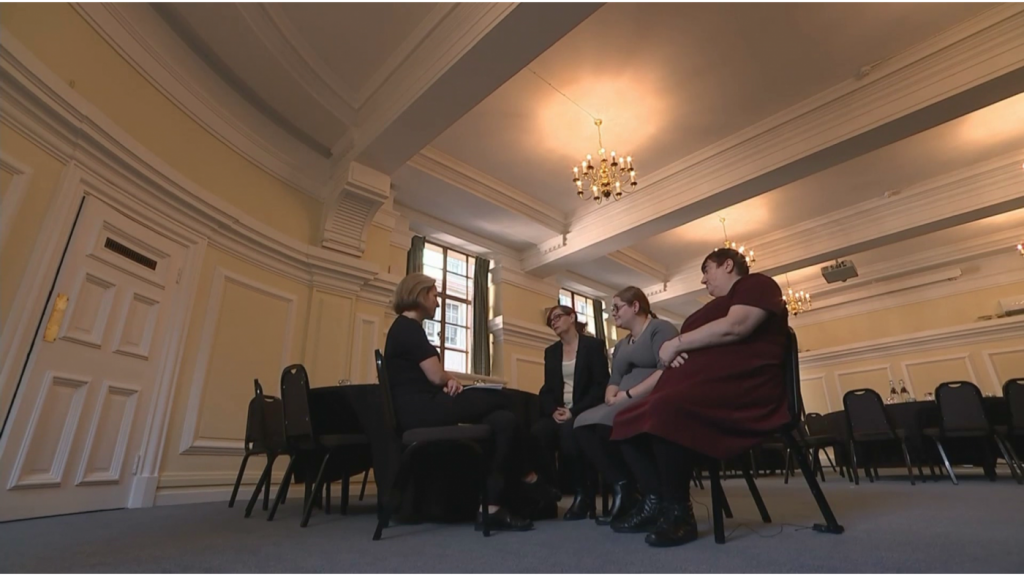 Penny, Cath and Heather are interviewed for Channel 4 News.