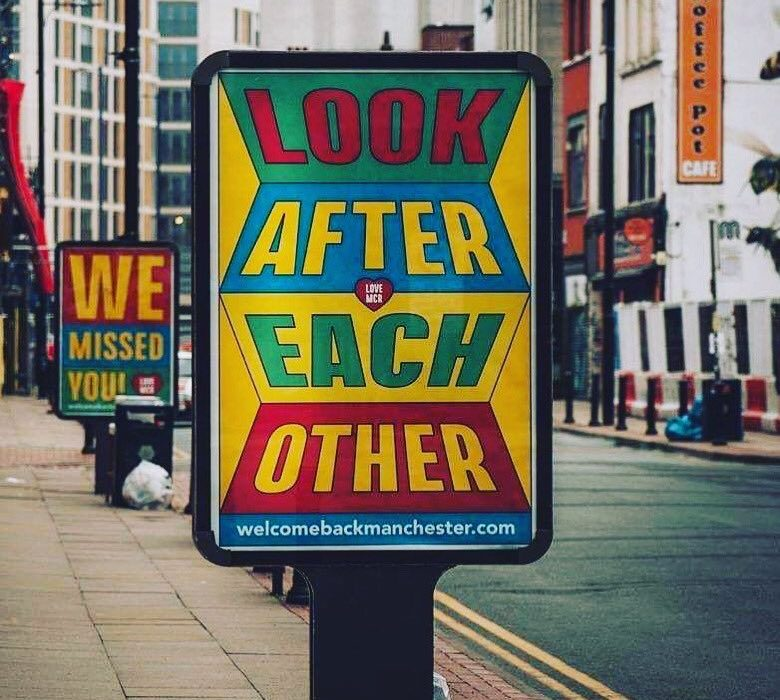 Sign reading Look After Each Other