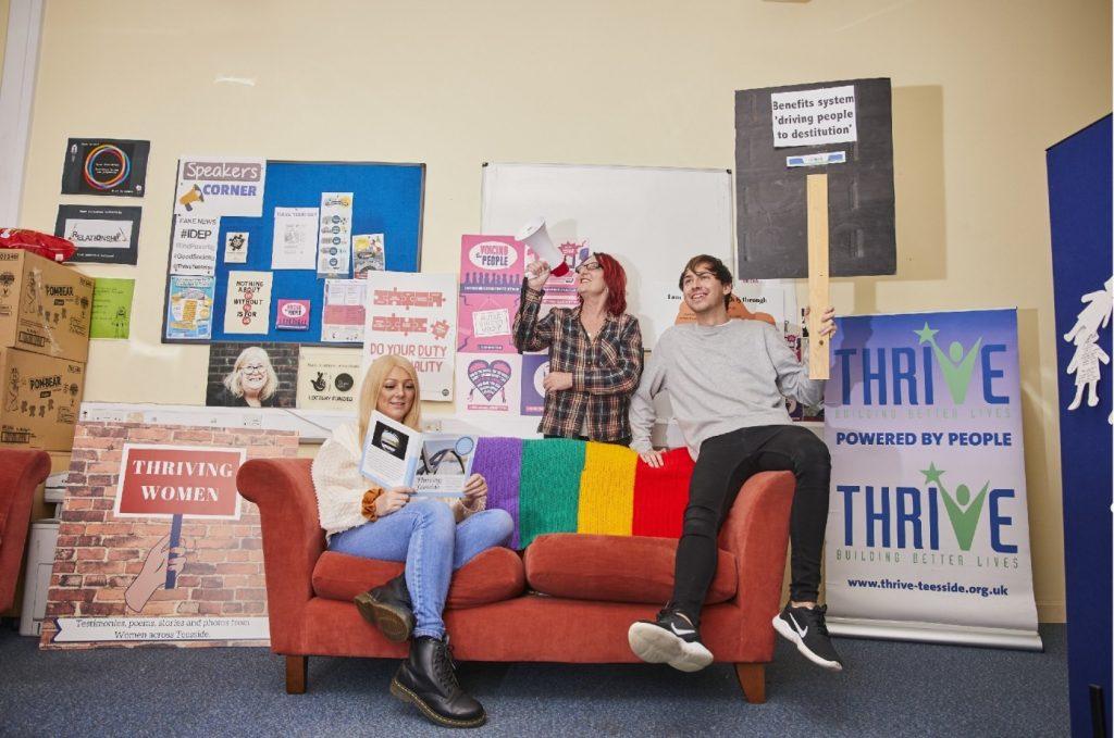 Three members of Thrive Teesside, including blog author Tracey Herrington