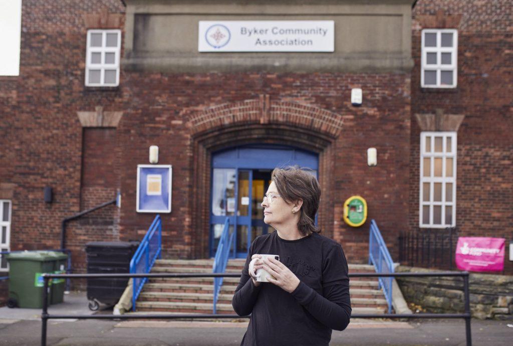 Penny Walters outside Byker Community Association