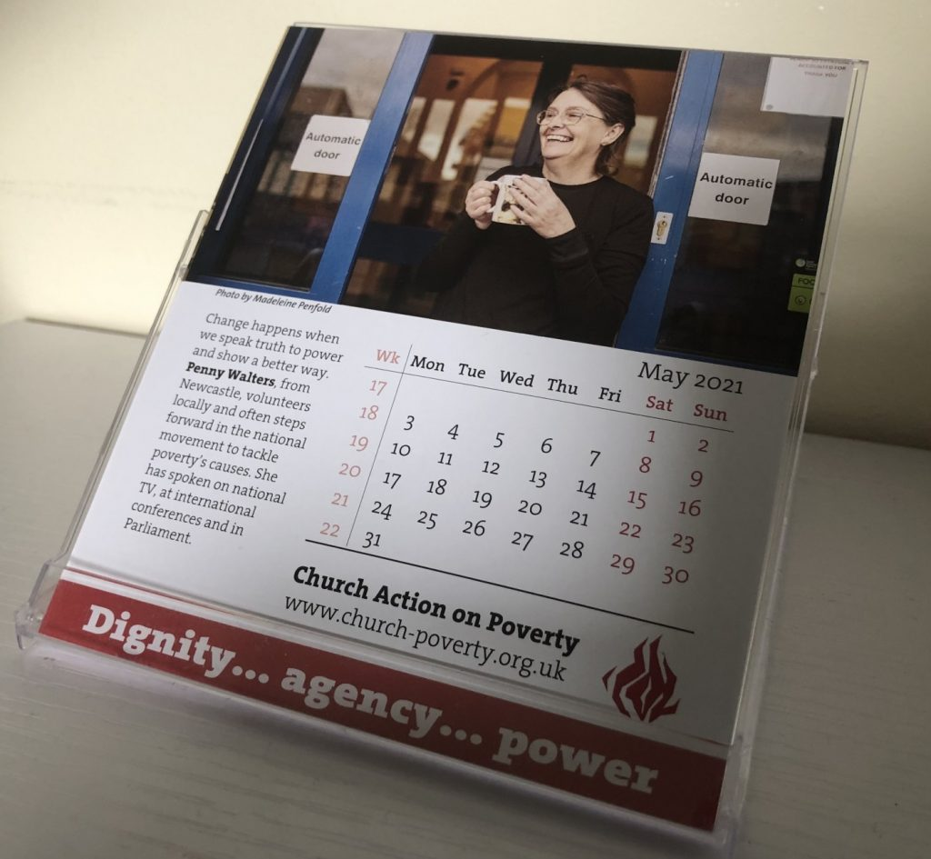 The May page of the 2021 Dignity, Agency, Power calendar
