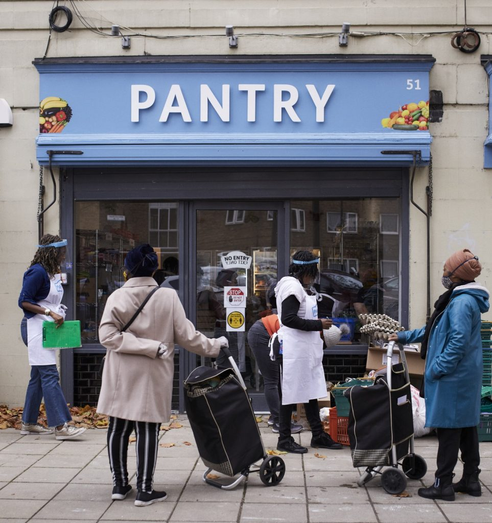 Members outside Your Local Pantry in Peckham