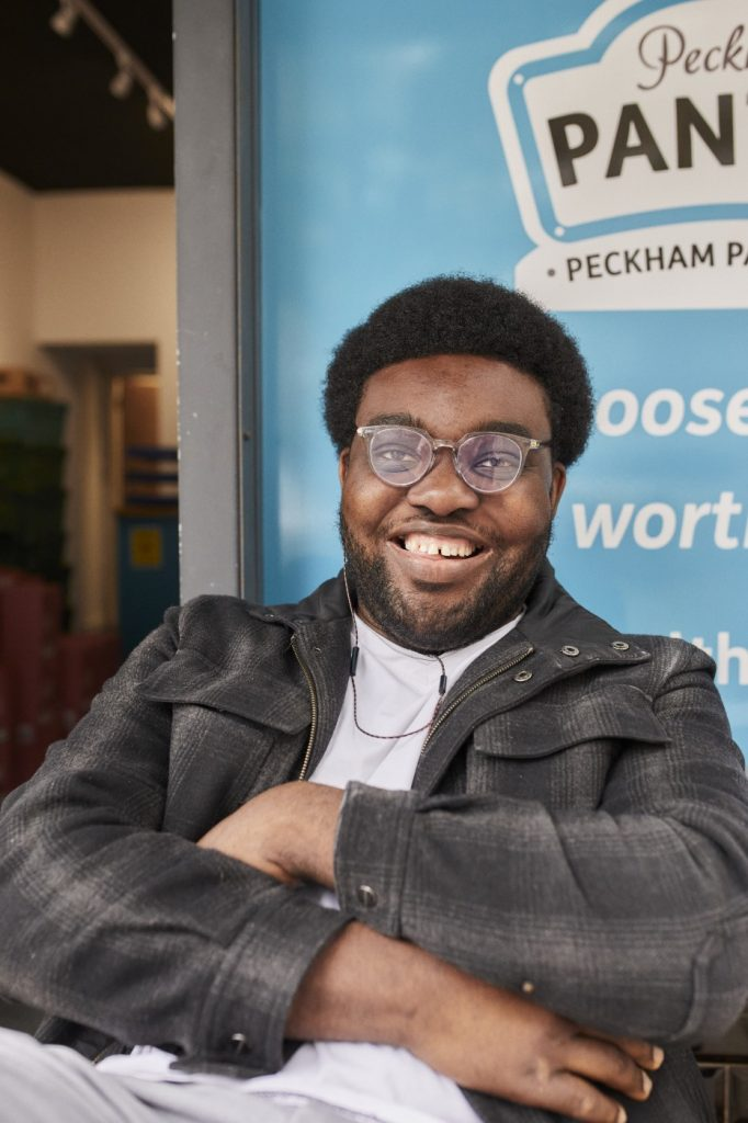 A volunteer at Your Local Pantry in Peckham