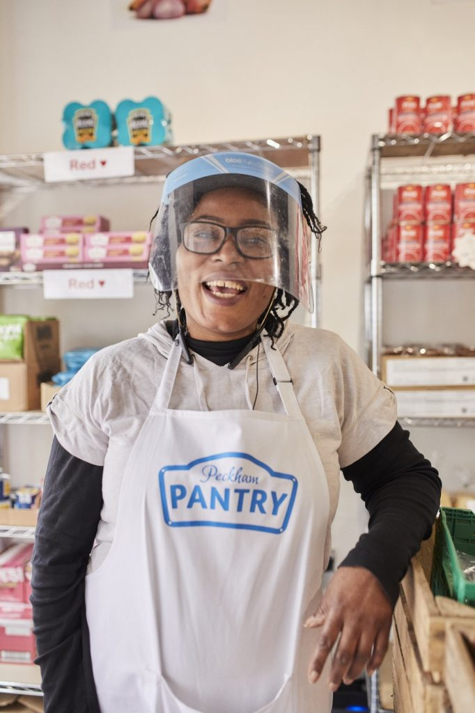 A team member at Your Local Pantry in Peckham