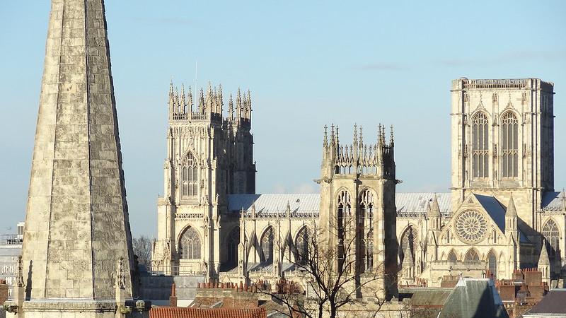 Church towers in York